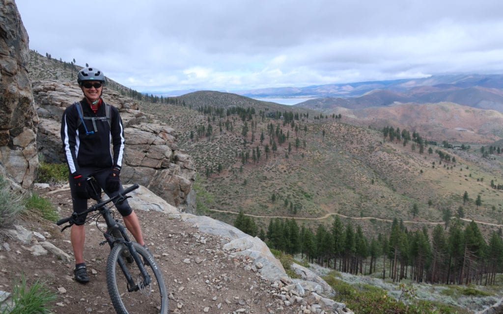 image Janice Keillor Mountain Biking on Ash to Kings Trail
