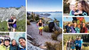 featured image collage showing five remote workers enjoying life with their families in the Reno - Lake Tahoe region