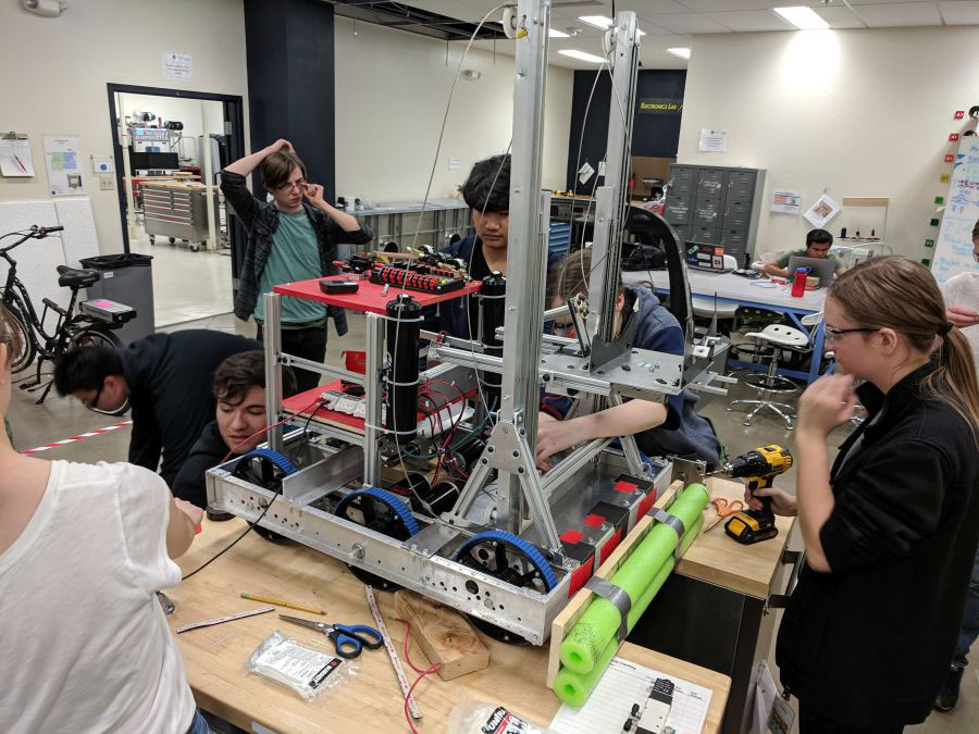 featured image showing the FYRE Team Building Robots