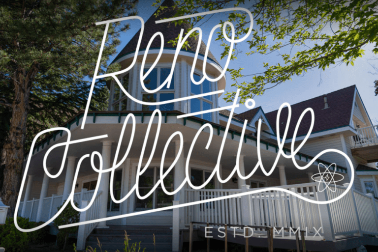 featured image showing the outside of Reno Collective with their Logo laid over the picture