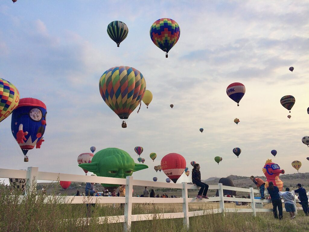 inline image showing Spectators Enjoying Mass Ascension at the Great Balloon Race in Reno, Nevada.
